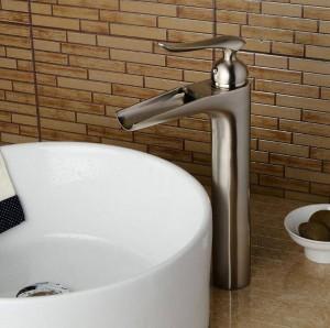 Bathroom crane waterfall basin faucet tall sink basin mixer black/Nickel basin faucet sink Mixer Tapbathroom sink faucet LAD-412