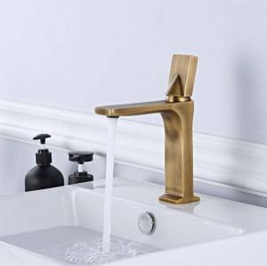 Bathroom Faucet Black/Chrome Single Handle Mixer Taps Hot Cold Water Mixer Basin Bathroom Deck Mounted Basin Faucet B554-1