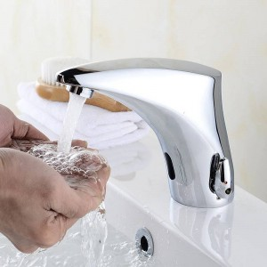 Bathroom Faucet Electric Automatic Sensor Faucet Touchless Kitchen Sink Basin Battery Power Hot And Cold Water Mixer Taps 8910