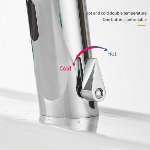 Bathroom Faucet Water Saving Taps Chrome Touchless Hot and Cold Mixer Tap Fully-automatic Faucet infrared Sensor Faucet 8021