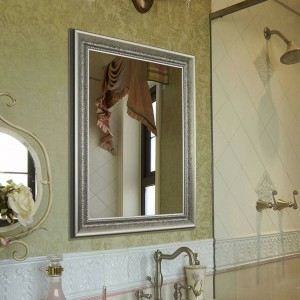 Bathroom mirror Retro wall mounted square mirror bedroom makeup mirror wx8221416