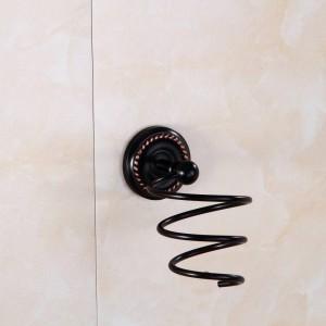 Bathroom Shelves Antique Brass Hair Dryer Holder Rack Wall Shelf Bath Storage Accessories Hair Blow Dryer Holder 9150K