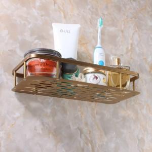 Bathroom Shelves Shampoo Holder 30cm Wall Mounted Strong Brass Made Chrome Single Tier Bathroom Shelf Bathroom Basket 9099K