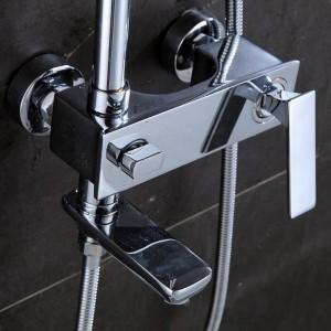 Bathroom Shower Faucet Set Bathtub Faucets Shower Mixer Tap Bath Shower Taps Waterfall Shower Head Wall Mixer Torneira 877009