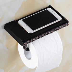 Bathroom Toilet Paper Holders Towel Holder And Phone Holder Art Carved Wall Mount Toilet Paper Holder Bathroom Hardware FE-8625