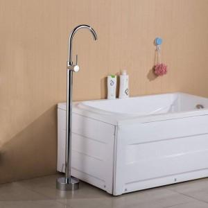 Bathtub Faucets Antique/ Black Floor Mounted Free Standing Bathtub Faucet Shower Set Tub Filler Mixer Tap For Bathroom XT379