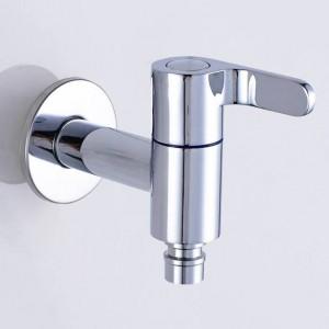 Bibcocks Tap For Outdoor Garden Chrome Brass Wall Mount Bathroom Corner Washing Machine Faucet Bath Toilet Mop Pool Taps OS1501