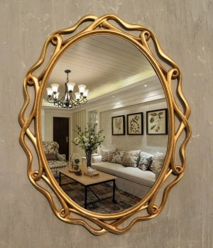 Big New European Style Old American Country View Wall Hanging Mirror Bathroom Mirror Hollow Makeup Dressing Table wall Mirror