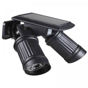 Big promotion Solar Powered PIR LED garden sensor double lamp adjustable Light scene Security Spot Lighting Waterproof Outdoor