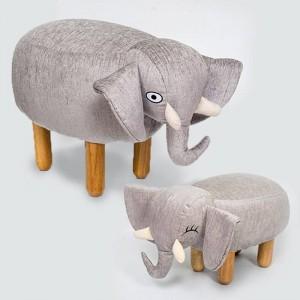 Big Sale! Chair Cloth Sofa Ottoman Shoe Stool Pouf Bean Bag Kid Toys Footstool Solid Wood Nordic Home Deco Furniture Animal
