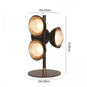 LED Table lamps Modern simple desk light for Living Room Hotel Bedside reading lamp 4PCS G9 LED bulb