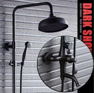 Black Bronze Rain Shower Set American Wall Shower Set