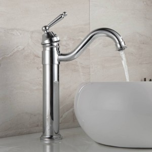 Black/Gold Brass Bathroom Basin Sink Mixer Taps Deck Mounted Single Holder 360 Swivel Spout Black Faucet B504