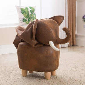 Brand Hot Sale The Elephant Foot Wooden Stool Sitting Pier Creative Children Sit Stool Lovely Cartoon Animal Shoes Stool Storage