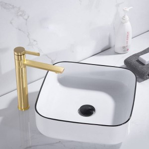 Brass Brushed Basin Faucet 360 Degree Swivel Basin Sink Tap Faucet Hot Cold Mixer Crane