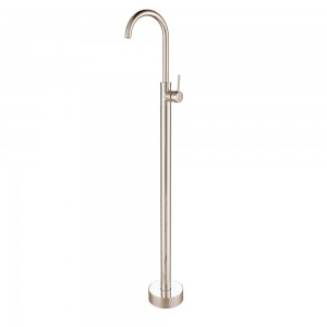 Brewst Modern Brushed Nickel One Lever Floor Mounted Tub Filler Spout Faucet Solid Brass