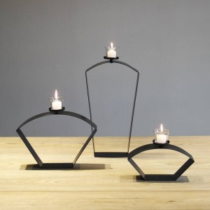 Brief modern style soft home accessories tieyi mousse crafts countertop decoration Iron candlestick