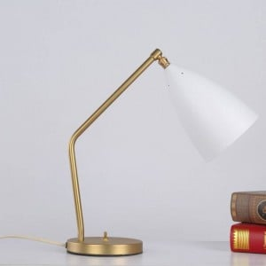 Brief modern table lamp simple desk light black white gray color gold body nordic E27 lamp bedroom lighting home art decorative