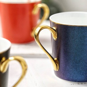 Bright stars Bone Mug Gold edge porcelain Coffee Cups Breakfast Water Cup espresso tea party tazas de cafe home Drinking