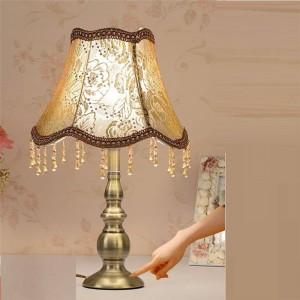 Bedside Lamp Wedding Bedside For Bedroom European Lampara Deco Table Lampshade For Bedroom Table Lamp