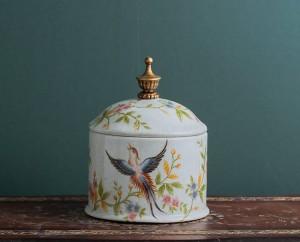 Candy jar retro-nostalgia European ceramic jar sealed jar tea jar creative household sundry storage