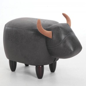 Carabao Style Stool Wood Footstool Chair With Storage Box Inside Kid's Sofa Furniture Cartoon Ottomans Home Decor Bench