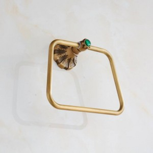 Carving Antique Brass Wall Mounted Towel Ring Unique Design Bathroom Bath Towel Rack And Retail 9075K