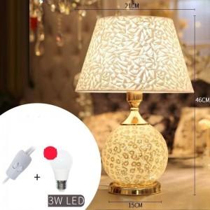 Casa Noel Living Room Bed For Bedroom Schemerlamp Bedside Abajur Quarto Para El Dormitorio Deco Lampara De Mesa Table Lamp