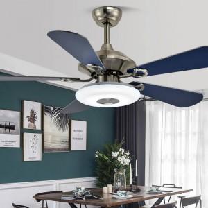 Ceiling fan with light simple wood fan leaf Living Room Restaurant Spiral Fan Lamp Coffee Shop Light kids room
