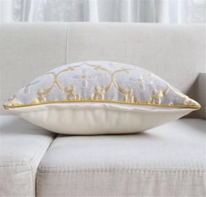 Chic Chenille Jacquard Cushion Cover Euro Luxury Art Leaf Pillow Covers Decorative Square Car Covers Sofa Home housse de coussin
