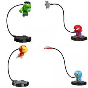 Childrens Gifts Night Lamp Table Lamp Spider-Man American Captain Hulk Iron Man Avengers Alliance Bedroom Living Room Decorative