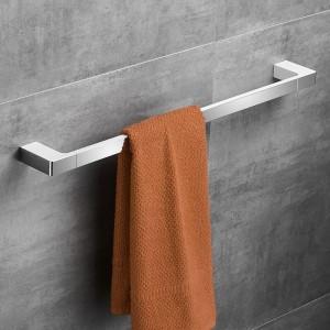 Chrome Color Zinc Alloy Material 60cm Fashion Single Towel Bar Square Style Towel Rail Towel Hanger Bathroom Accessories 5724