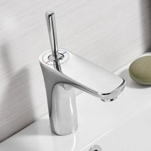 Chrome Mixer Bathroom Sink Faucet Basin Faucet Chrome Brass Faucet Chrome Faucet Basin Mixer Tap Deck Mount Torneira Tap 855007
