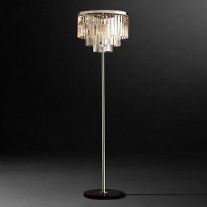Chrome silver led Crystal Floor Lamp crystal table desk light Bedroom Living Room Floor Standing Lamp E14 110-240V Led Vloerlamp