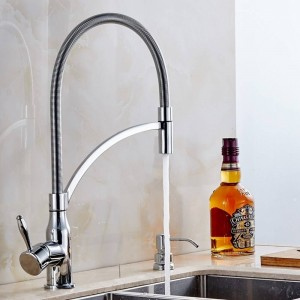 Chrome Spring Kitchen Faucets Single Handle Spring Pull Down Kitchen Tap 360 Swivel Water Mixer Crane Hot Cold Mixer Tap MKQ3-L
