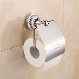 Chrome Stainless steel Porcelain Wall Mounted Bathroom Accessories Paper Holders 7002CSP