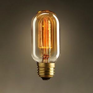 Classic Design E26 Edison Style 40 Watt Single Incandescent Light Bulb for Antique Lighting Fixture