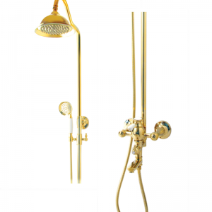 Classic gold-plated luxury white single handle deck mounted brass basin bathroom faucet G1022
