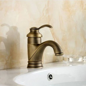 "Classical 6"" Antique Brass Faucet Bathroom Faucets crane Sink Basin Mixer Tap 7203"