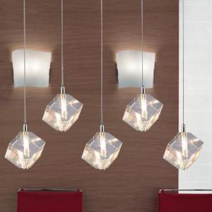 Clear 5 pcs G4 led pendant lights for dining room Restaurant big clear crystal lights Kitchen bar light glass Lustre Pendente