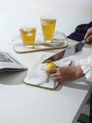 InsFashion wonderful pattern ceramic bread or fruit cutting board or serving tray for french style kichen use