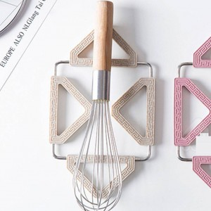 Colored Foldable Non-slip Heat Resistant Pad Trivet Pan Placemat Pot Holder Mat Coaster Cushion Kitchen Accessories
