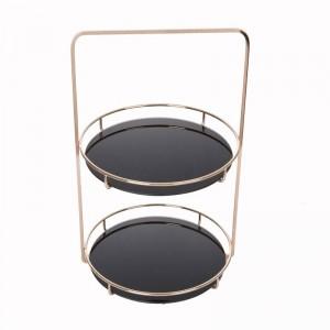 Cosmetics Shelf Snack Storage Rack Desktop Skin Care Dressing Table Storage Metal Frame