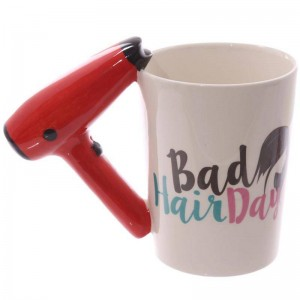 Creative 3D Hand Painted Ceramic Cup Hair Dryer Handle Coffee Cup Mug Ceramic Cups Used To Hold Water Milk Coffee Etc