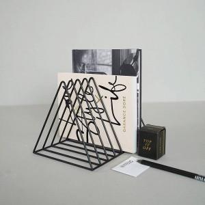 Creative Book End Home Decor Bookstop Magazine Organizer Bookshelf Stopper