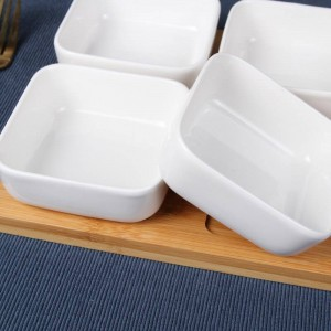Creative ceramic square Snack kimchi dish Dried fruit salad bowl Sauce dish Sugar & Creamer Pots Tableware Spice jar