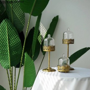 Creative European style Retro metal Wedding props Mini cake stand Gold Snack stand Cup cake Display stand cake decorating