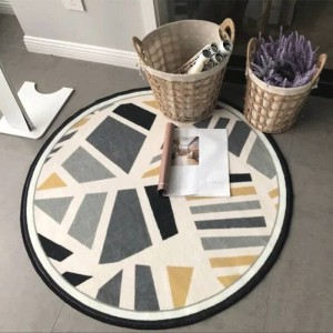 Creative geometric round carpet living room coffee table blanket bedroom study hanging chair cushion round floor mat computer ch