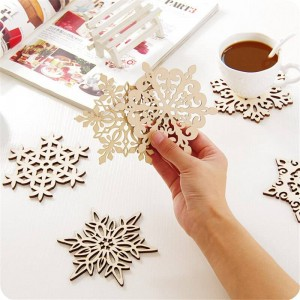 Creative home insulation mats snow wood pad table mats anti - hot meal table mats wooden coaster home decoration