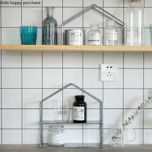 Creative Iron House shape Desktop storage Cosmetic storage Dessert rack cupcake Home Decorations Display stand